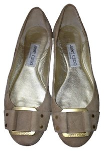Jimmy Choo Ballet Tan Flats