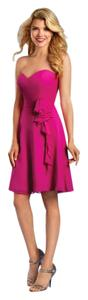 Alfred Angelo Fuchsia Signature 7320s Feminine Bridesmaid/Mob Dress Size 6 (S)