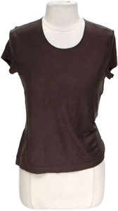 Talbots Shell Coco T Shirt Chocolate Brown