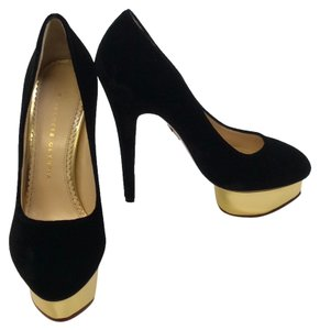 Charlotte Olympia Black gold Platforms