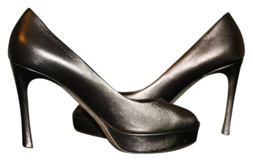 WOMENS Saint Laurent Pewter funny Tribute Pumps Stylish and funny Pewter 3741ff