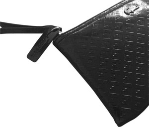 Lacoste Pouch Crocodile Cluth Wristlet in BLACK