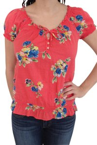 Hollister Top Orange Floral