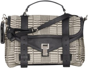 Proenza Schouler Proenza Ps1 Houndstooth Black White Shoulder Bag