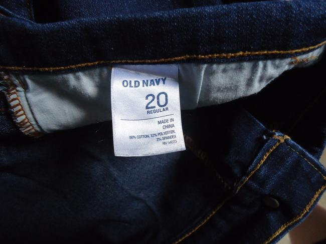 Old Navy Womens Dark Wash 20 Plus Relaxed Fit Jeans-Dark Rinse
