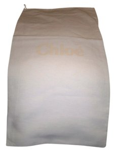 Chlo Huge Brand New Chloe' Sleeper/ Dust Bag or Protective Cover White cotton with Tan logo Size 14 width x 25 Length. Drawstring Bag