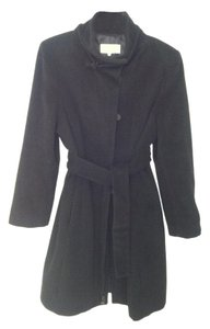 Calvin Klein Angora Wool Pockets Belted Trench Coat