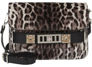 Proenza Schouler Proenza Leopard Ps11 Haircalf Mini Shoulder Bag