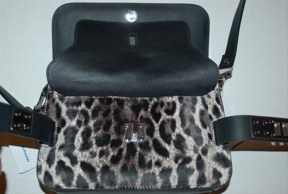 Check Shoulder Calf Proenza Mini Hair Haircalf Leopard Black New Schouler Bag Ps11 vxx6wqZHn