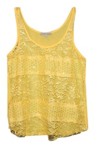 Charlotte Russe Lace Summer Blouse Top yellow