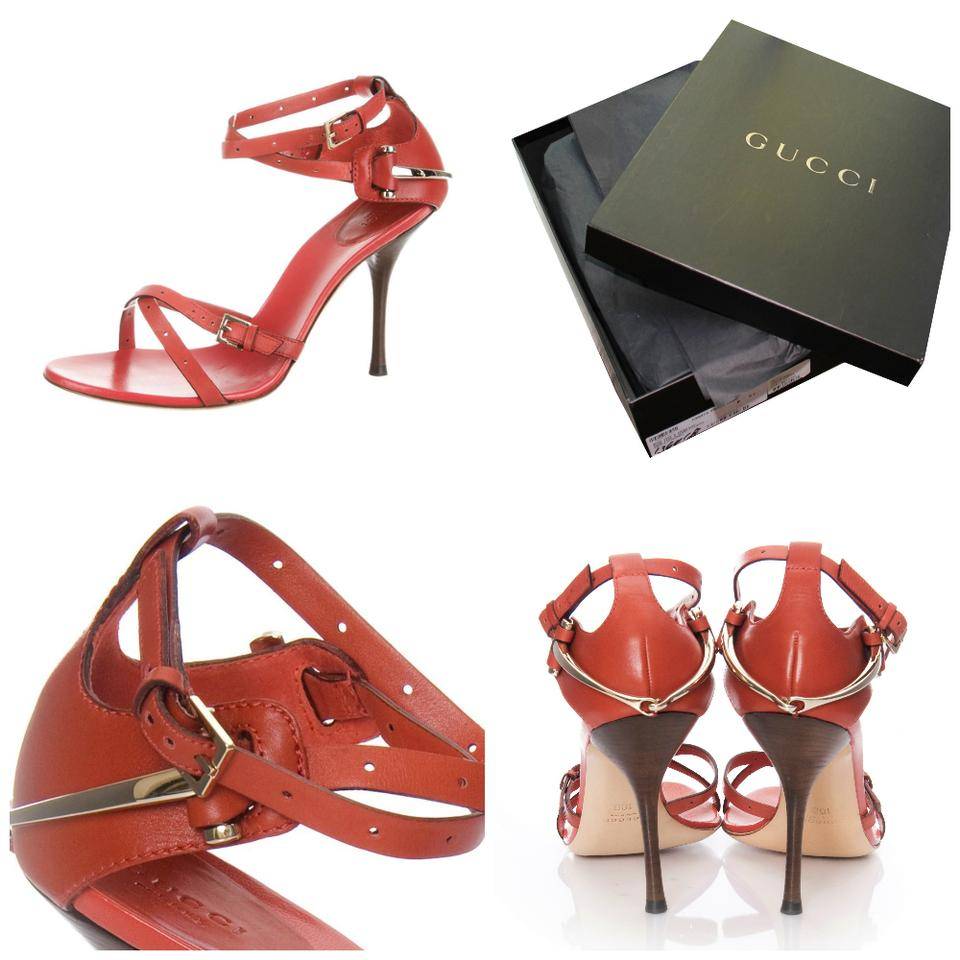 59d57f1b564e Gucci Burnt Red Horsebit New with Box Heels Stunning Formal Shoes ...