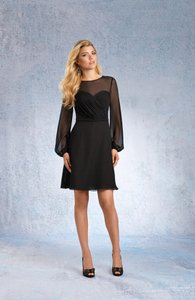 Alfred Angelo Black Button Back Short Formal Dress Dress