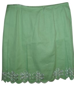 INC International Concepts Aline Short Cutoutf Skirt Green