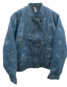 Free People blue Womens Jean Jacket