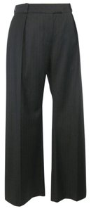 Chloé Chloe Wool Wide Leg Pants Brown