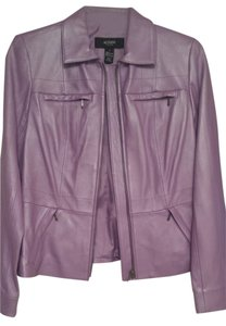 Alfani Light Purple Leather Jacket