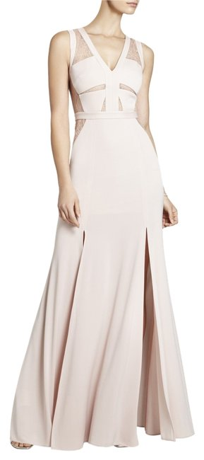 Item - Bare Pink Cristy Sleeveless Lace-insert Gown Long Night Out Dress Size 8 (M)
