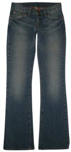Lucky Brand 5 Pocket Style Zip Fly Cotton/spandex Low Rise Boot Cut Jeans-Medium Wash