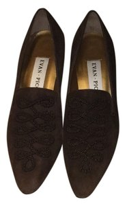 Evan Picone Chocolate Suede Mules
