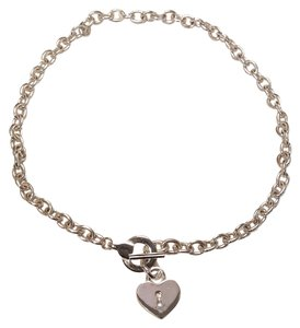 Nine West Heart Toggle Necklace Silver Plated