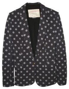 Anthropologie Polka Dot Knit Blazer