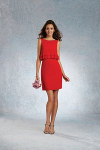 Alfred Angelo Cherry Signature 7339s Sexy Bridesmaid/Mob Dress Size 8 (M)