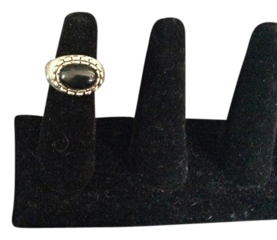 Other Black Onyx and Silver Ring