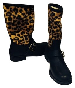 Eric Michael Leopard Made In Spain Stylsih Conforatble black Boots