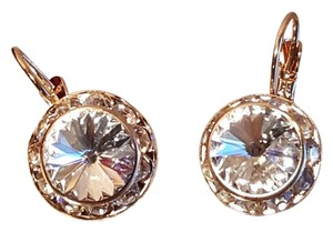 Aurora Dangle Gold Plated Swarovski Element Earrings Lever back