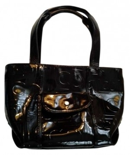 Preload https://item4.tradesy.com/images/liz-claiborne-black-faux-patent-leather-tote-143253-0-0.jpg?width=440&height=440