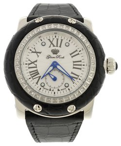 Glam Rock New Glam Rock Black Alligator Miami Diamond Watches
