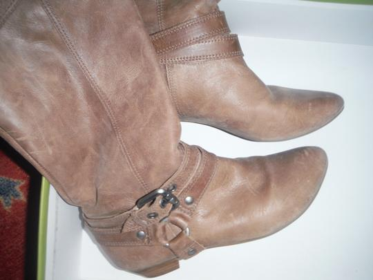 Gianni Bini Buckle Harness Pull On sahara sand Boots