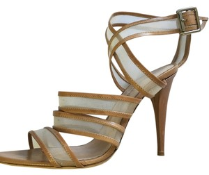 Loeffler Randall Nude mesh trimmed in leather Pumps
