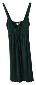 Spoof short dress Green Cotton on Tradesy
