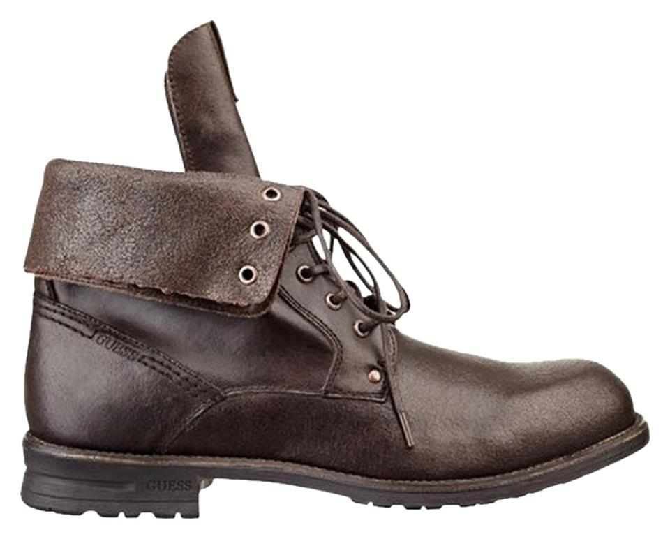 ebc805a48a0 Guess Brown Leather Men's Boots/Booties Size US 10.5 Regular (M, B) 42% off  retail