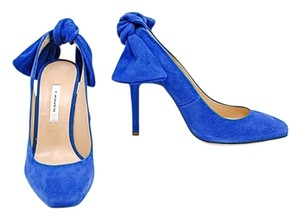 Carven Slingback Suede Blue Formal