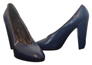 Marc Jacobs Mj Velvet Highheel Electric Blue Grey Madeinitaly Leather Electric Blue Pumps