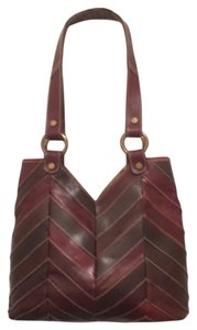 Lucky Brand Leather Shoulder Satchel Tote in Brown