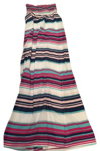 White, pink & blue multi Maxi Dress by Splendid