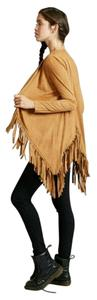 Adam Levine Collection Boho Festival Fringe Suede Camel Jacket