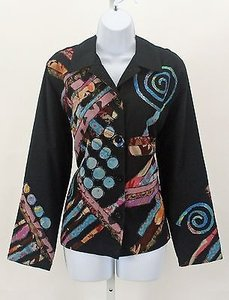 Other Life Style Multi Ls Embroidered Applique B313 Black Blue Pink Peach Burgundy Brown Yellow Tan Jacket