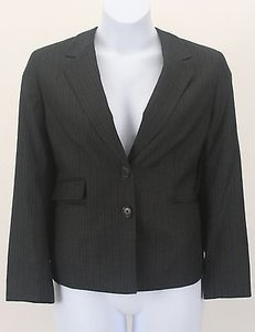 Kasper Kasper 16p Charcoal Grey Magenta Orange Pinstripe 2-button Blazer B283