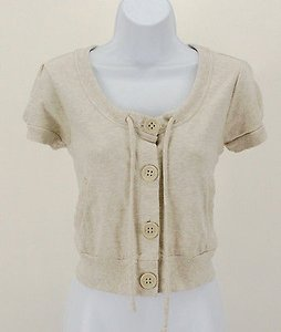 Gap Ss Four Button Drawstring Neckline Short B313 Beige Jacket