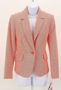 Liz Claiborne Liz Claiborne Mp Orange White Blazer B93