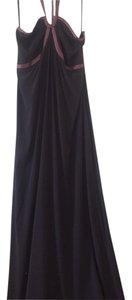 Chocolate brown and Mauve Maxi Dress by Cadeau