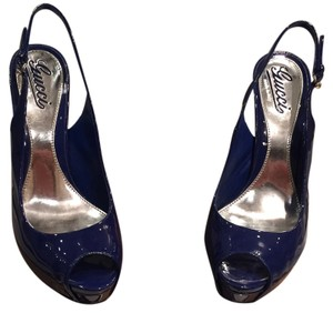Gucci Blue patent leather Platforms