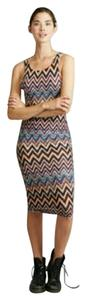 Adam Levine Collection Missoni Chevron Sexy Fitted Dress