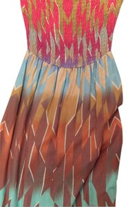 Ponk, blue, tan multi pattern Maxi Dress by Charlie jade