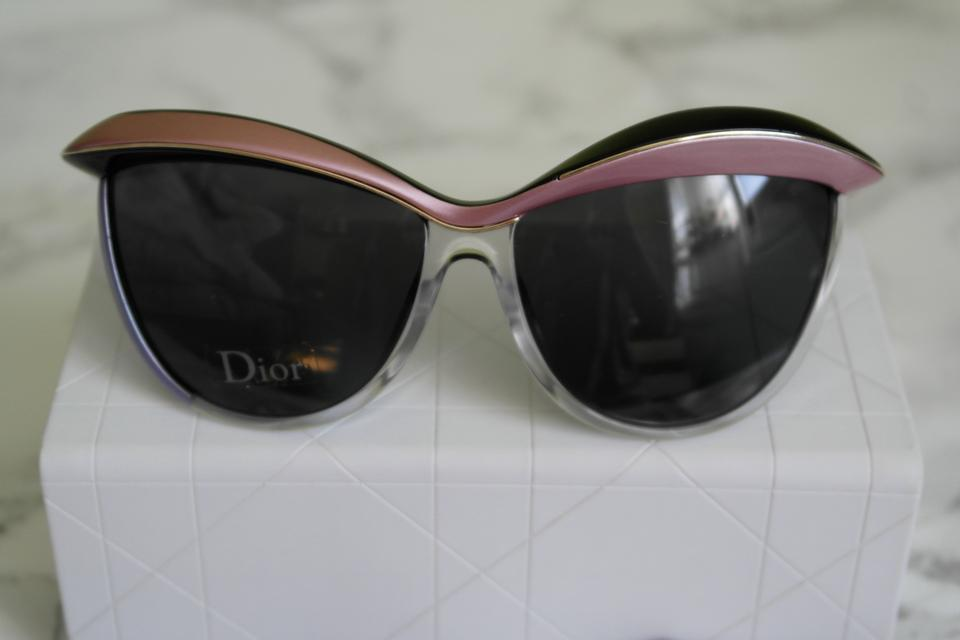 a0aca449886 Dior Dior Demoiselle 1 Retro Cat Eye Black Metallic Pink Sunglasses NEW  Image 11. 123456789101112