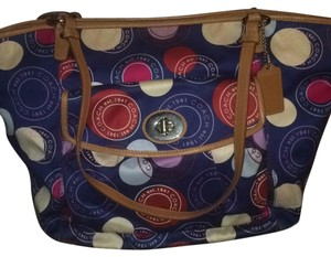 Coach Patriotic Patriot Red Tote in Blue Multi